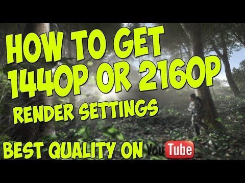 How To Get 2160p Or 1440p Quality Best render settings EVER Sony Vegas Pro 12 (2k/4k) 2014
