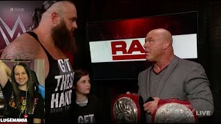 WWE Raw 4/9/18 Nicholas and Braun Relinquish Tag Titles
