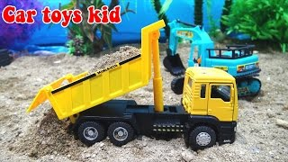 Car toys for children    Dump truck, excavator crane toys help soldiers   Kid Youtube   Car toys kid