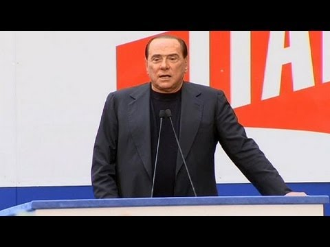 Berlusconi addresses supporters in Rome