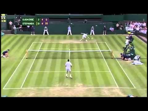Best ATP Tennis Points : N.Djokovic vs R.Stepanek | Wimbledon 2nd round | 25/06/2014