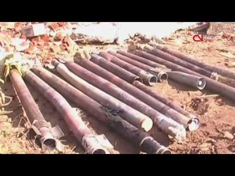 Sri Lanka troops clean up ammunition at depot blast site