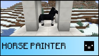 HORSE PAINTER IN ONE COMMAND (Minecraft 1.9)