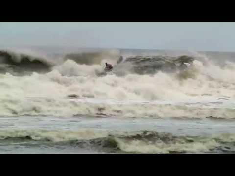 Surf's Up! - Amazing Hurricane Irene Waves Hit Jacksonville Beach FL