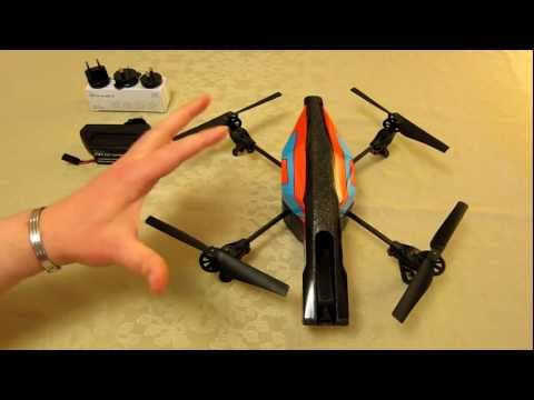 Parrot AR Drone 2.0 - Detailed review - Powering up. Local memory stick + Recommended spares