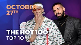 Early Release Billboard Hot 100 Top 10 October 27th 2018 Countdown Official