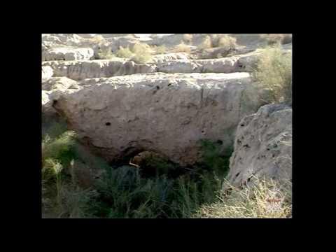 Zoroastrian monuments in Qoralqalpogiston. Ancient Khorezm sights (Uzbekistan, Central Asia).