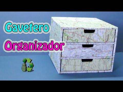 123 diy organizador gavetero reciclaje de carton youtube - Manualidades en reciclaje de carton ...