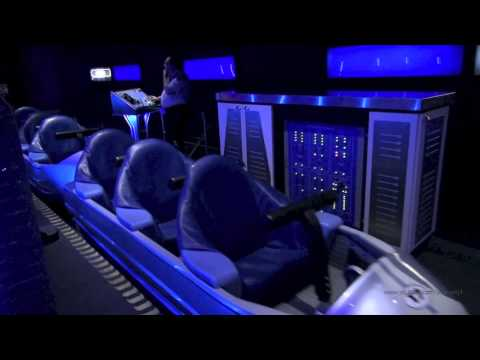Space Mountain Front Row Nightvision HD Magic Kingdom Walt Disney World