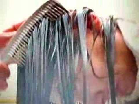 Shampooing long hair forward 3