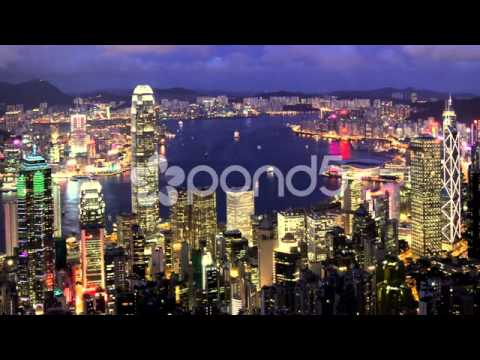 Pond5 Stock Footage - Hong Kong Asian Business Center Timelapse Day to Night