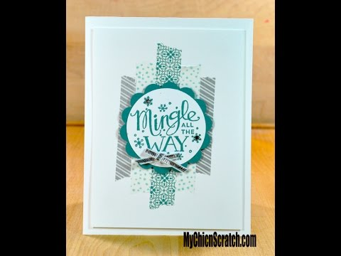 All is Calm Washi Tape Card