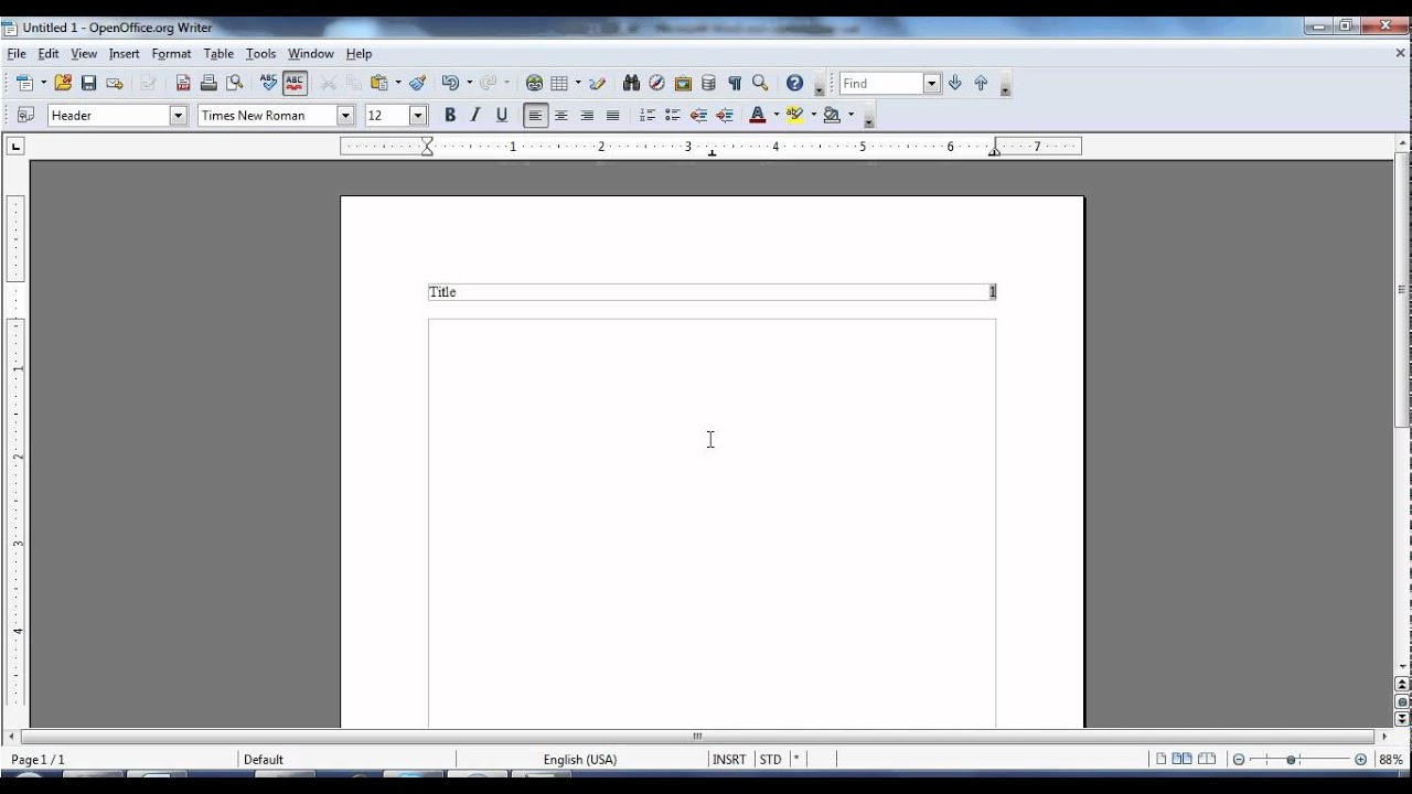 apa header and title page using open office mp4