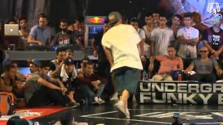 underground funky base vol 8 world final 1 vs 1 b-boy quarter-final (mass vs kriman )