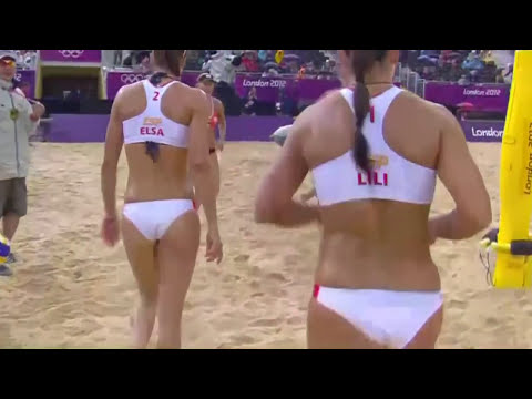 Spain's Beach Volleyball Player Liliana Fernandez Steiner At London 2012