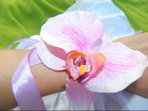 Орхидеи своими руками из ткани