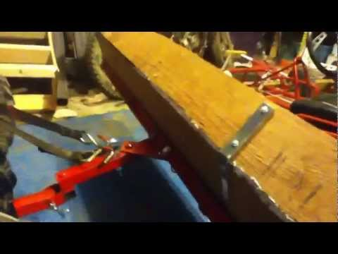 Homemade atv snow plow