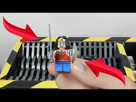 Experiment Shredding Lego Wonder Woman And Toys   The Crusher
