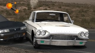 BeamNG.Drive Mod : Ford Thunderbird 1964 (Crash test)