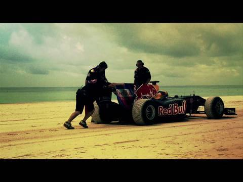 F1 car drives on sand! - Logistics behind the Red Bull Beach Run