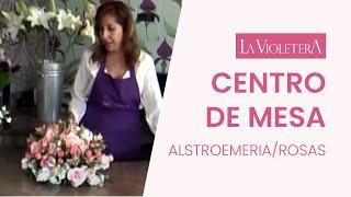 Como hacer un centro de mesa LA VIOLETERA Florería y  Escuela de Diseño Floral