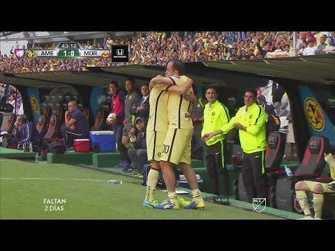 Darwin Quintero le regala un gol a Oribe Peralta con dedicatoria a Cuauhtémoc