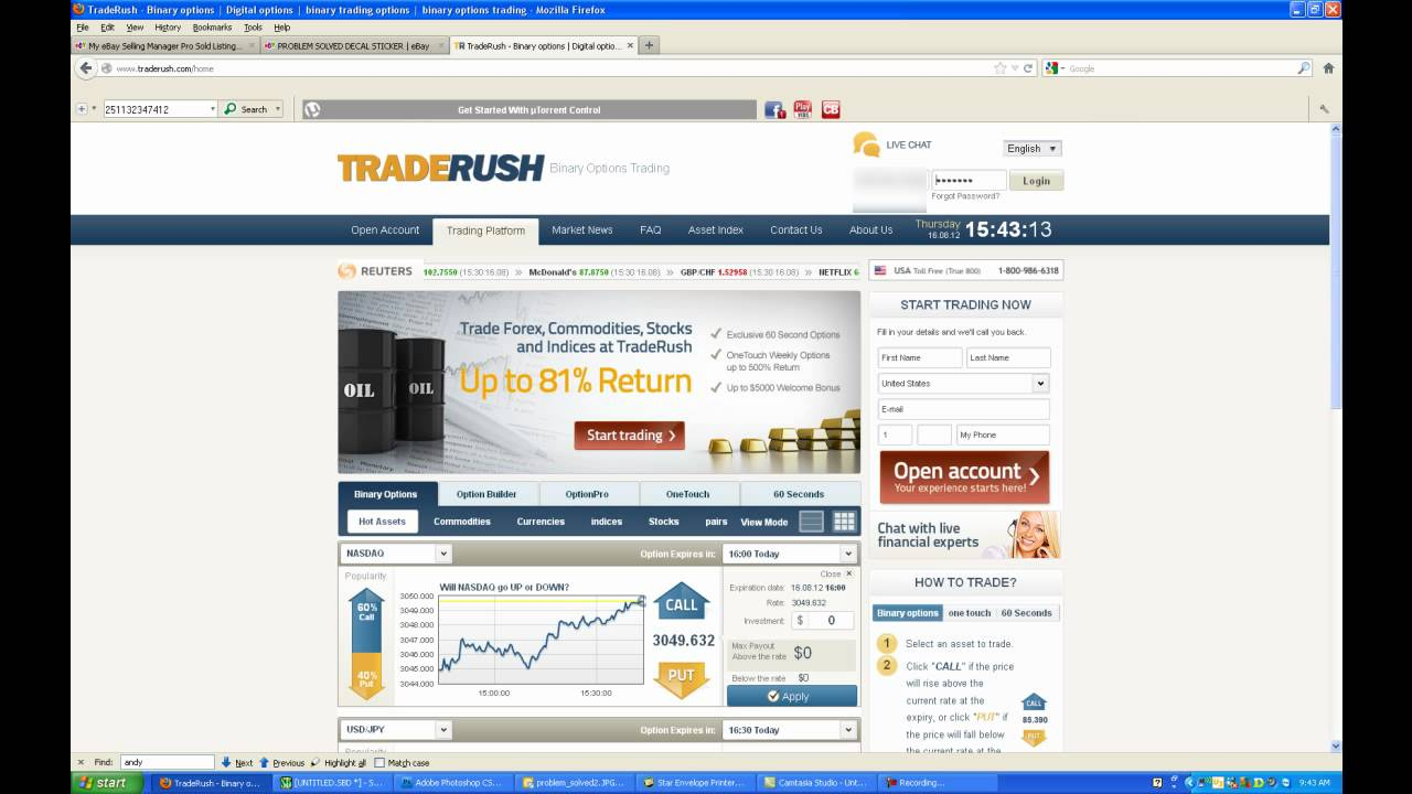 Trading binary options in the u.s