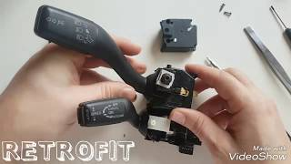 Audi A3 8P cruise control lever switch Retrofit 8P0953513F