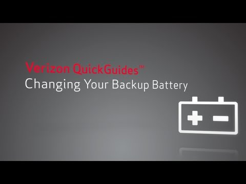 How to Change Your Backup Battery and Fix FiOS Battery Beeping -- Verizon QuickGuides