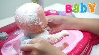 Mainan Anak Boneka Bayi Mandi Sabun Salju 💖 Baby Doll Bath Time With Snow 💖 Let's Play Jessica