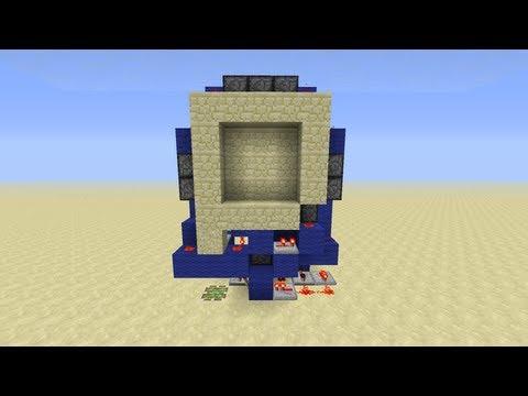 Minecraft Piston Door 3x3 ▶ 3x3 Piston Door in 60
