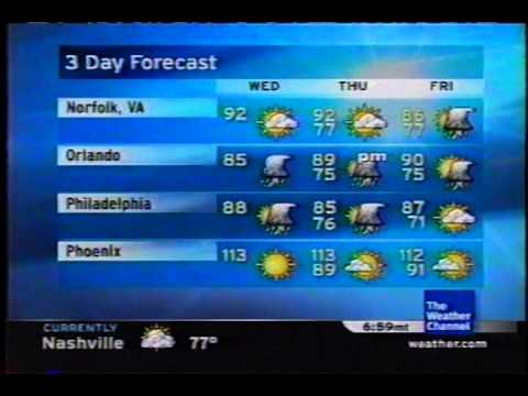 TWC Satellite Local Forecast from July 2006 Daytime #7