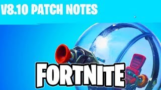 Fortnite Update 8.10 Changes | Baller, Shield Update, Vending Machines, Heavy AR!