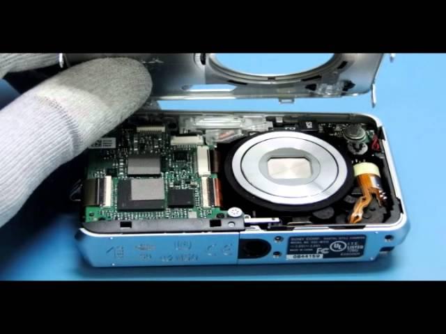 Tutorial de Desmontagem Câmera Sony W310