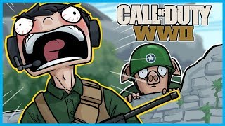 Call of Duty: World War II Funny Moments! - Extreme Nogla Rage, Goofy the Crackhead, More LEGIQN!