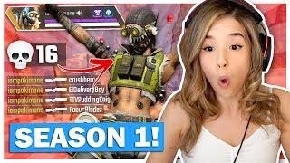 Pokimane Reacts to Apex Legends Season 1 + WINNING with *NEW* Hero OCTANE Challenge!