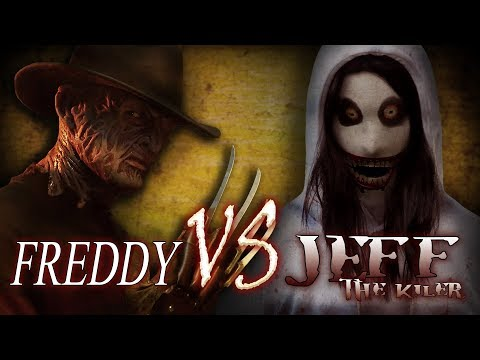 Freddy Krueger vs Jeff the Killer Epic Horror Battles | Creepypasta meets Nightmare on Elm Street