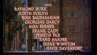 Rear Window 1954 -- OPENING TITLE SEQUENCE
