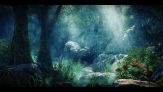 Forest animation HD Cryengine real-time Bokeh dof