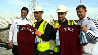 Hammers meet Stadium apprentices