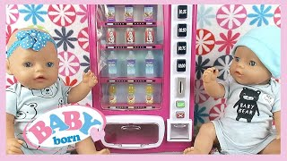 Baby Born Twins Learn to Share 👶🏼👶🏼 Toy Drink Vending Machine🥛