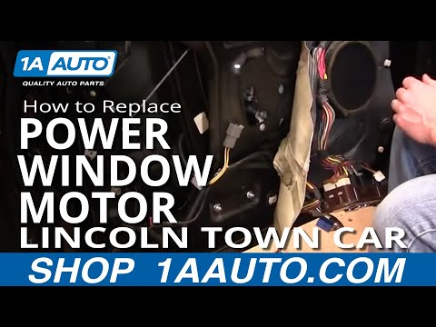 How To Install Replace Front Power Window Motor Lincoln Town Car 98-02 1AAuto.com
