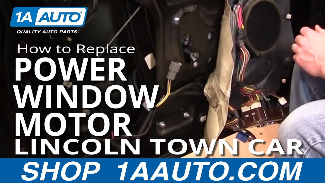 How to install replace front power window motor lincoln town car 98 02 youtube Car window motor replacement