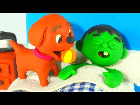 FUNNY KIDS DOG WANTS TO PLAY ❤ Play Doh Cartoons For Kids