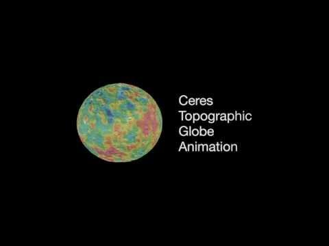 Ceres Topographic Globe Animation