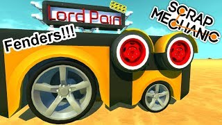 New Car Fenders Sneak Peek ( Scrap Mechanic Mods Gameplay )