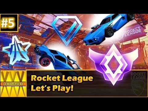 Lets Play Rocket League Part 5 With 3 Chopsticks (rocket league funny moments, when 3 friends play)