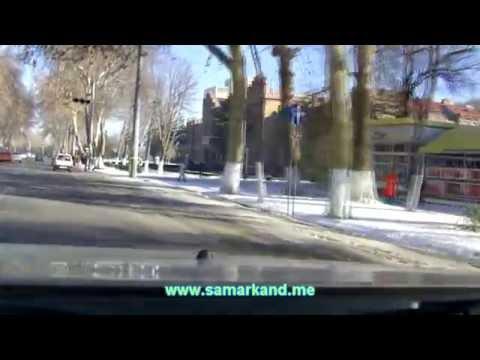 Улицы Самаркандна 04.01.2013 - Университетский бульвар