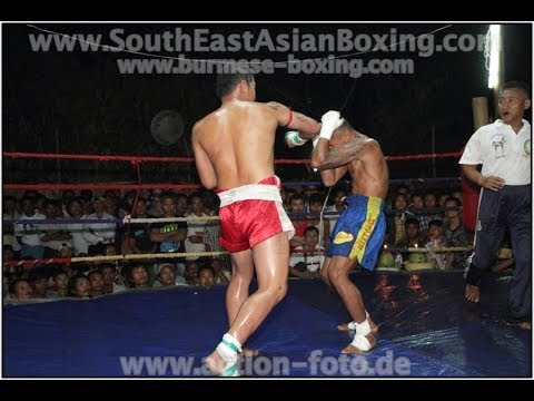 Lethwei Burmese Boxing [HD] - Fightnight in Thaton (3) - Kayin State Myanmar - Thingyan 2013