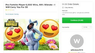 """So I hired Fortnite """"Pros"""" on Fiverr to help me win..."""
